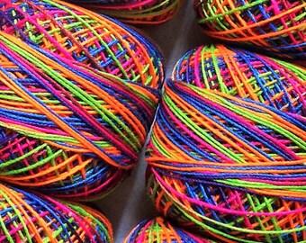 10 x 20 grams Multicolored Lace Making Mercerized Cotton Tatting Thread Size 20