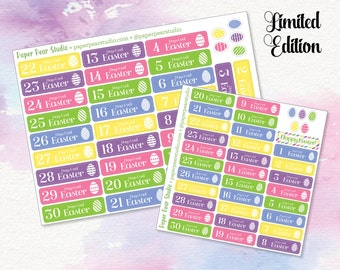 Easter Countdown Sticker Set for Passion Planner **50% OFF**