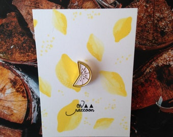 Lemon lemon brooch badge pins