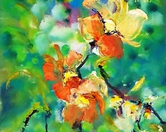 Oil painting Flower art Still life painting Flowers Floral painting Flower painting Floral art Impressionist painting Home decor Wall Art