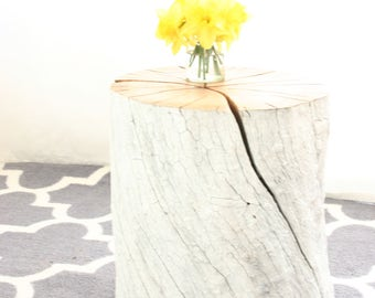 Apricot Tree Stump Table