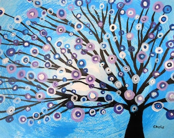 Abstract painting Tree of Life Home decor