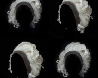 Short Platinum blonde lace front wig