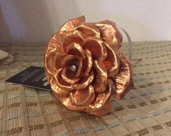 Handmade Copper Rose