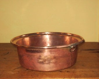 French copper jam pan