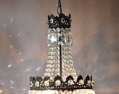 Empire Waterfall  Luxury  Lighting Home Living Antique Pendant French Vintage Glass Crystal Chandelier Lamp Lighting Ceiling Old Fixture