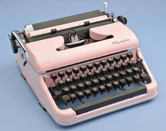 Light pink Olympia typewriter
