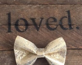 Gold Shimmer Bow