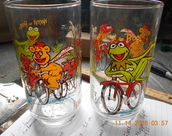 Set of Two Kermit the Frog ~ Great Muppet Caper 1981