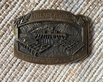John Deere Brass Belt Buckle (Limited Edtion 453 of 500)