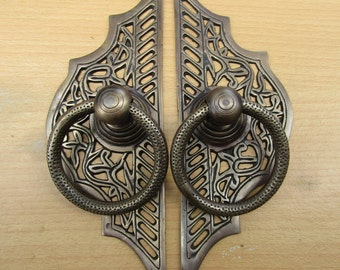 """8.25""""Inches  Vintage Solid Brass  Front Door Knocker with Pull Ring KNOCKER KN10"""