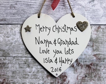 Nanna and Grandad Gift - present for grandparents - Grandparents Plaque - Nanna - Grandad Gift - Nanna and Grandad - Merry Christmas - Xmas