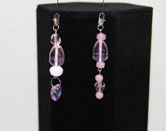 Pink Beaded Pendants