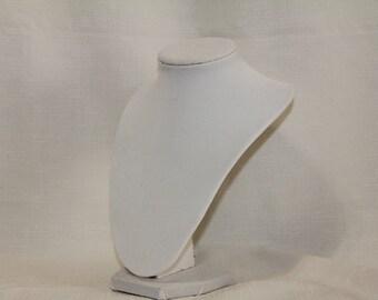 Darice White Velvet Necklace Display