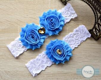 Crystal Garter, Rhinestone Garter, Blue Wedding Garter, Wedding Garter Blue, Lace Garter, Weddings, Garters, Something Blue, Wedding Garter