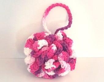 READY TO GO/ Hook/ Crochet/ flower sponge/ shower/ bath puff
