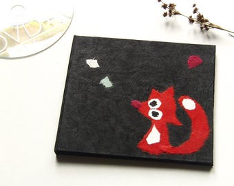 "CD case ""Fox"" black with Pocket"