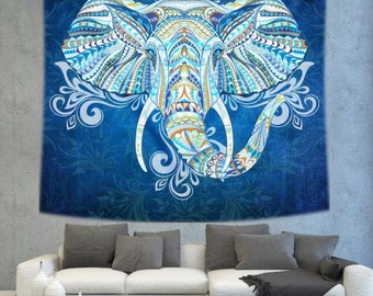 Elephant Wall Hanging elephant tapestry | etsy