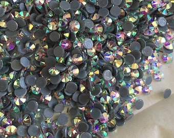 Swarovski crystals HOTFIX flat back stones gems rhinestone crystal ab or clear  - for clothes, shoes, bags and more