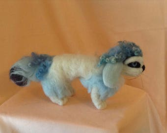 Needle-Felted Blue - Posable