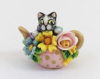 Miniature Cat Teapot