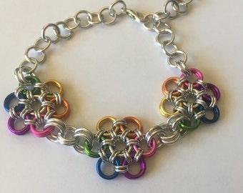 Japanese flower bracelets in a range of colours