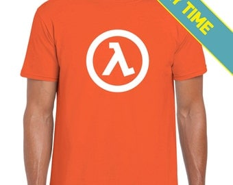 Glow in the Dark! Lambda Core - Half Life | Unforseen Consequences | Black Mesa | Gordon Freeman | PC Game | T-Shirt