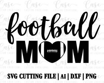 Football Mom SVG Cutting File, Ai, Png and Dxf Files | Instant Download | Cricut and Silhouette | Football Heart | Sports | Mom Life