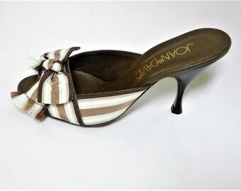 Vintage Designer Joan and David Vero Cuoio Peep Toe Heels - Size 7 1/2M- NOS