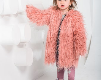 Kids fur coat | Etsy
