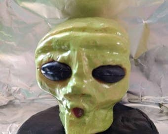 Hand crafted alien head