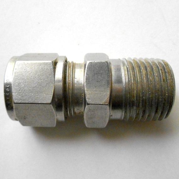 Vintage swagelok gyrolok screw tube fitting inch