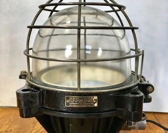 Lampe industrielle vintage Mapelec