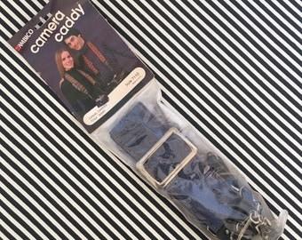 70s// Camera Strap//  Denim// Ambico Camera Caddy// New Old Stock