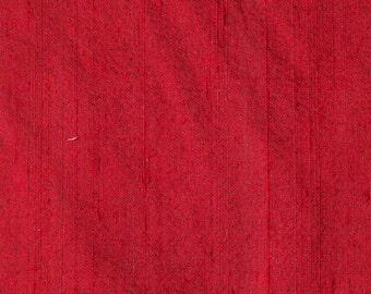 Maroon Dupion Raw Silk Fabric
