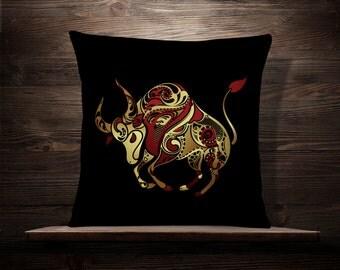 Taurus | Zodiac | Constellation | Star Sign | Zodiac Pillow | Astronomy | Astrology | Horoscope | Numerology | Bull | Earth Element | Heaven