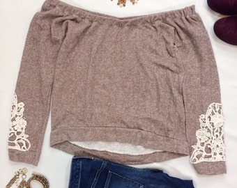 Taylor Off the Shoulder Sweatshirt
