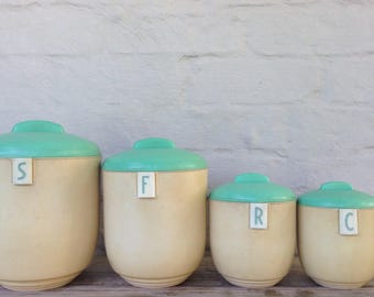 1930s duperite canister set