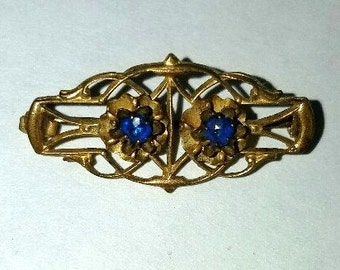 Pin - Petite Late Victorian – Gold Tone with Stones