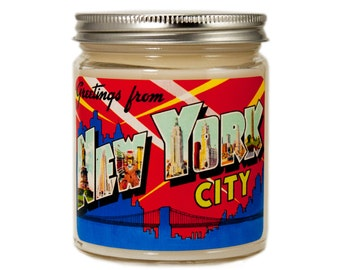 New York City Candle, New York City Gift, Custom Scented Candle, Container Candle, Soy Candle, Vintage New York, Candle Gift