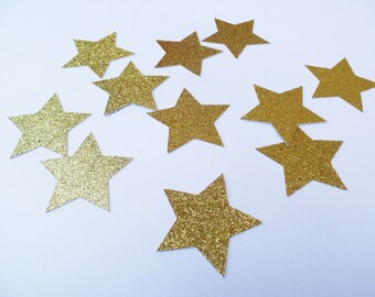 "2"" Inch Twinkle Twinke Little Star Confetti  (25 pieces) Die Cut - First Birthday, Shower Table Decorations"