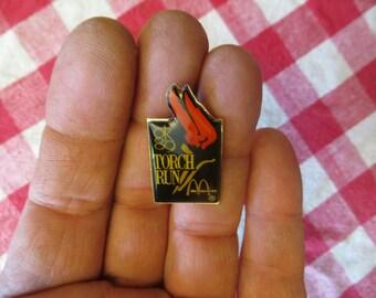 1989 McDonald's Torch Run pin