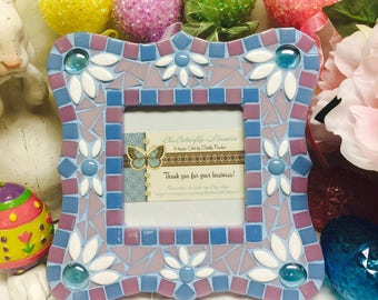 SPRING - Easter Spring Daisies Mosaic Picture Frame