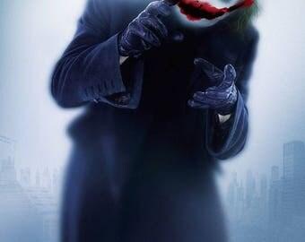 "The Dark Knight, style B 11"" x 17"" Heath Ledger ,The Joker Movie poster"