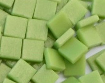 12mm Mosaic Craft Tiles - Apple Green Matte - 50g
