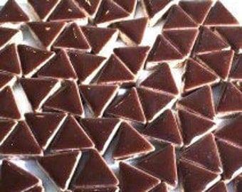 Triangle Ceramic Mosaic Tiles - Burnt Umber - 50g