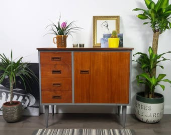 SOLD  Chest of 4 Drawers - Cabinet/Cupboard/Desk - Retro Vintage