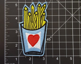 I love French Fries Iron On Patch Free Shipping!