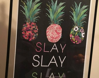 Pineapple Slay Designer Print
