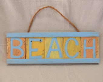 Tropical Pallet Wood Beach Sign